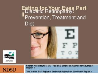 D iabetic R etinopathy: Prevention, Treatment and Diet