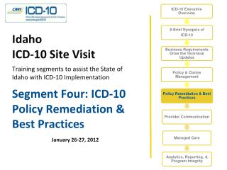 Segment Four: ICD-10 Policy Remediation & Best Practices