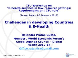 Challenges in developing Countries  & E-Health