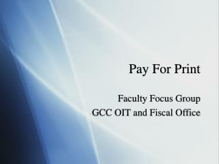 Pay For Print