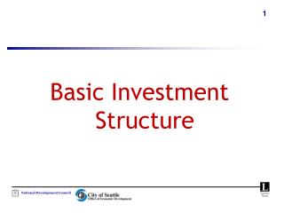 Basic Investment Structure