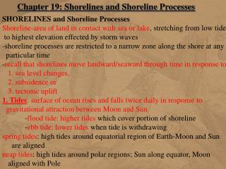 Chapter 19: Shorelines and Shoreline Processes