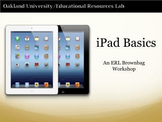 iPad Basics
