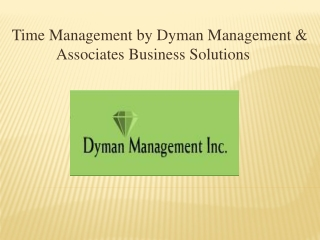 Time Management by Dyman Management