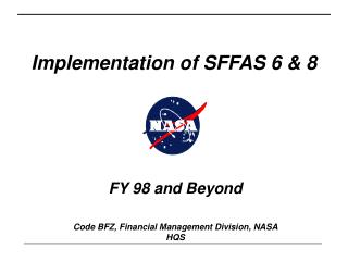 Implementation of SFFAS 6 & 8