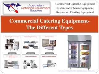Commercial Catering Equipment-The Different Types