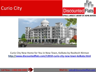 Curio City New Home for You in New Town, Kolkata by Realtech