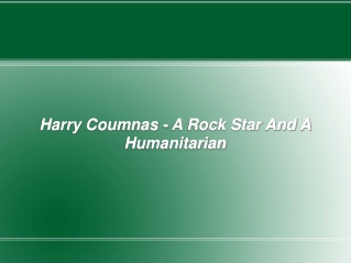 Harry Coumnas - A Rock Star