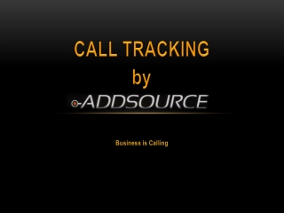 Call Tracking With Addsource