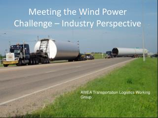 Meeting the Wind Power Challenge – Industry Perspective