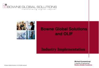 © Bowne Global Solutions, Inc All rights reserved