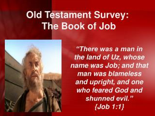 Old Testament Survey:   The Book of Job