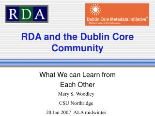 RDA and the Dublin Core Community