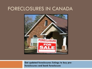 Foreclosures Listings