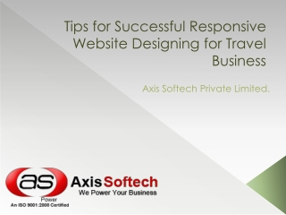 Tips for Successful Responsive Website Designing for Travel