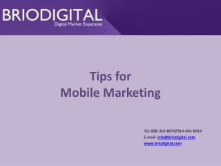 Tips for Mobile Marketing