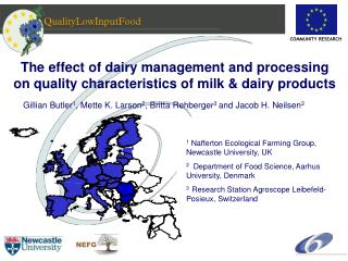 The effect of dairy management and processing on quality characteristics of milk  dairy products