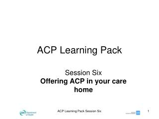 ACP Learning Pack