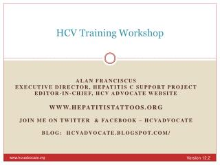 HCV Training Workshop