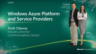 Windows Azure Platform  and Service Providers