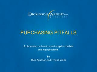 PURCHASING PITFALLS