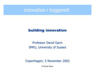 innovation i byggereit