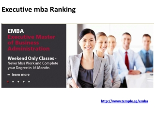 Executive MBA Ranking Program is Best for You