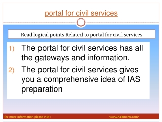 Awesome portal for civil services