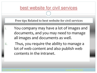 The best website for civil services is now available online.