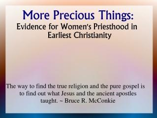 More Precious Things: