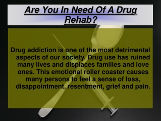 Are You In Need Of A Drug Rehab