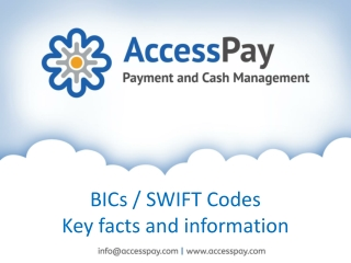 BICs or SWIFT Codes