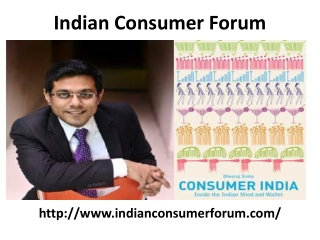 Indian Consumer Complaints Forum