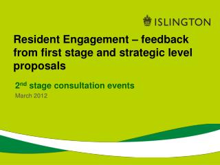 Resident Engagement   feedback from first stage and strategic level proposals