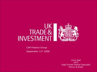 CIM Finance Group September 11 th  2008