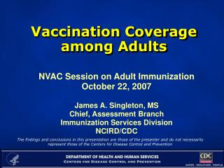 Vaccination Coverage among Adults
