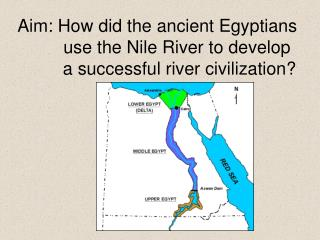 Aim: How did the ancient Egyptians         use the Nile River to develop          a successful river civilization?