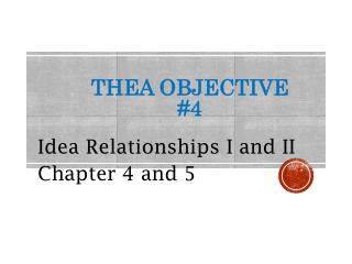 THEA Objective #4