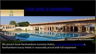 3 star hotel in ranthambore
