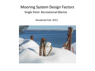 Mooring System Design Factors
