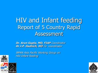 HIV and Infant feeding Report of 5 Country Rapid Assessment