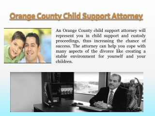 Orange County Child Support Law