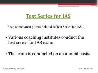 Test series for ias prelims is available for free