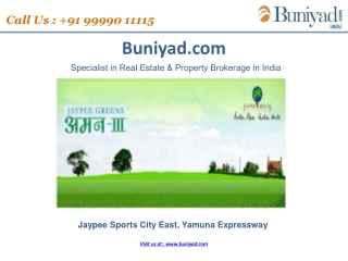 Jaypee Group New Launch Aman 3 Yamuna Expressway- 9999011115