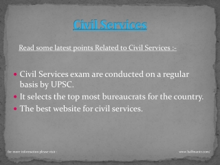 Halfmantr is the best website for Civil Services