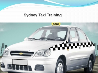 Taxi Driver Training