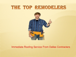 Instant Roofing Service By Dallas Roofers