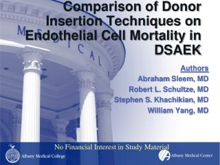 Comparison of Donor Insertion Techniques on Endothelial Cell Mortality in DSAEK