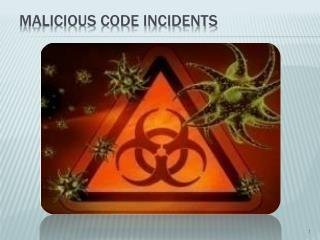 Malicious code Incidents
