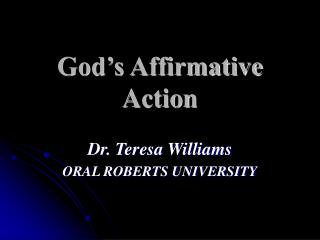 God's Affirmative Action